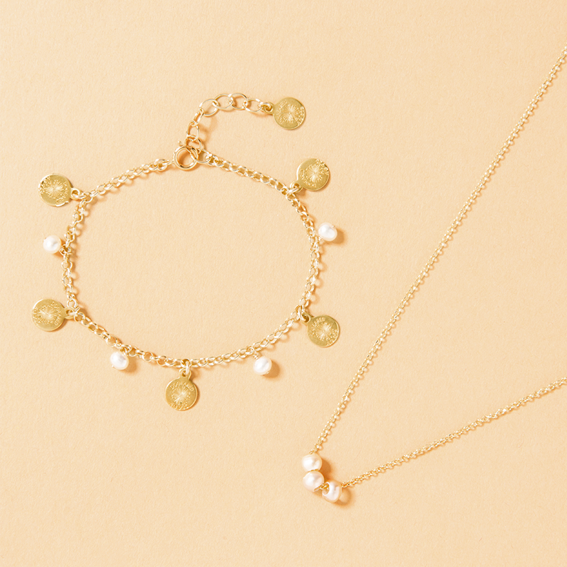pearls of pink pearl choker gold dipped